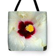 Creamy Hibiscus With Rain Drops Tote Bag