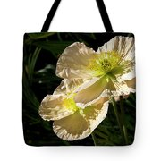 Creamy Poppies Tote Bag