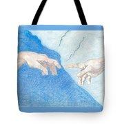 The Creation Hands Sistine Chapel Michelangelo Tote Bag