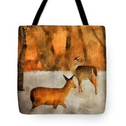Creatures Of A Winter Sunset Tote Bag