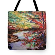 Creek Blue Ridge Mountains Tote Bag
