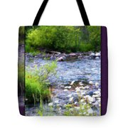 Creek Daisys Tote Bag
