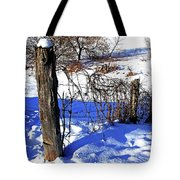Creek Fenceline Tote Bag