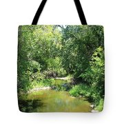 Creek In A Forest Tote Bag