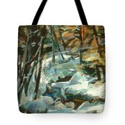 Creek In The Cold Tote Bag