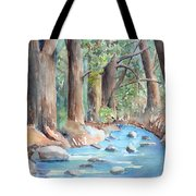 Creek In The Woods Tote Bag