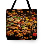 Creek Leaves Tote Bag