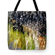 Creek Running Through Moss-covered Stones 1 Tote Bag