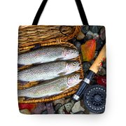 Creel With Native Trout  Tote Bag