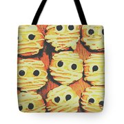 Creepy And Kooky Mummified Cookies  Tote Bag