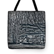 Creepy Cabin In The Woods Tote Bag