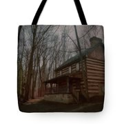 Creepy Cabin Tote Bag