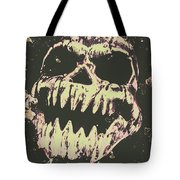 Creepy Face From Nightmares Past Tote Bag