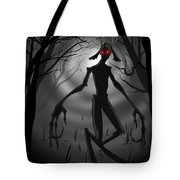Creepy Nightmare Waiting In The Dark Forest Tote Bag