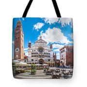 Cremona Market Square With Cathedral Tote Bag