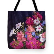 Crepe Myrtle And Roses  Tote Bag