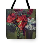 Crepe Myrtles In Glass Tote Bag