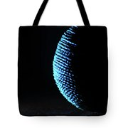 Crescent Ball In Cyan Tote Bag by Scott Cordell