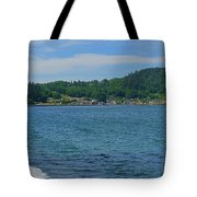 Crescent Beach Center Panoramic Tote Bag