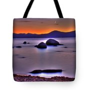 Crescent Moon Above Tahoe Tote Bag