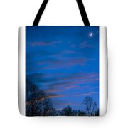 Crescent Moon At Sundown Tote Bag
