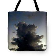 Crescent Moon Over A Storm Cloud Tote Bag