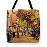Crescent Street Montreal Tote Bag