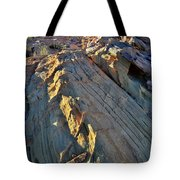 Crest Of Sandstone Wave At Sunset In Valley Of Fire Tote Bag