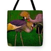 Crested Cranes Tote Bag