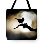 Crested Tit Silhouette Tote Bag