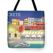 Crete Greece Horizontal Scene Tote Bag