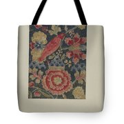 Crewel Embroidered Panel Tote Bag