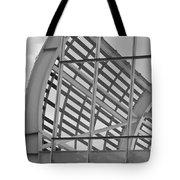 Cricket Stadium Architecture Black And White Tote Bag
