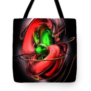 Crimson Affection Abstract Tote Bag