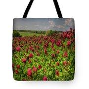 Crimson Clover Patch Tote Bag