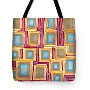 Crimson Gold And Squares  Tote Bag