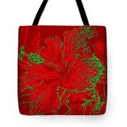 Crimson Hibiscus Tote Bag