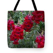Crimson Snapdragons Tote Bag