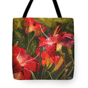 Crimson Light Tote Bag