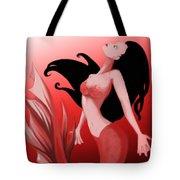 Crimson Mermaid Tote Bag