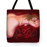 Crimson Side Tote Bag