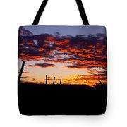 Crimson Sunrise  Tote Bag