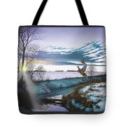 Crisp Winter Light Tote Bag