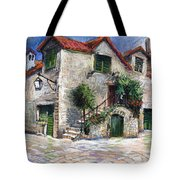 Croatia Dalmacia Square Tote Bag