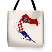 Croatia Map Art With Flag Design Tote Bag