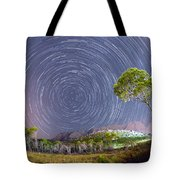 Croatia Star Trails Tote Bag