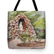 Crockett California Saint Rose Of Lima Church Grotto Tote Bag