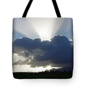 Crocodile Clouds Sunrays And Mt Bartle Frere Fnq  Tote Bag