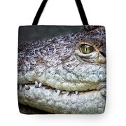 Crocodile Eye Tote Bag
