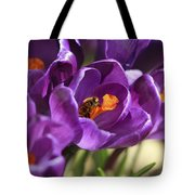 Crocus And Bee Tote Bag